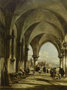 Francesco Guardi - San Giorgio Maggiore from the Arcade of the ...