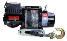 Treuil Electrique Spartan 2722 Kg 12v avec  30m de corde synthétique   ✓ ref: 60SPA12C   Superbe treuilWarrior Spartan 2722kg 12 voltes avec 30 metres decorde synthétique,idéal pour les applications de traction . Les caractéristiques exceptionnelles comprennent des roulements moteur étanchent avec raccords en laiton, relais robuste et étanche. Livré avec guide-câble à rouleaux en acier inoxydable à fixer sur une platine ou équerre. Garantie limitée a vie Warrior   ☞ - 17%