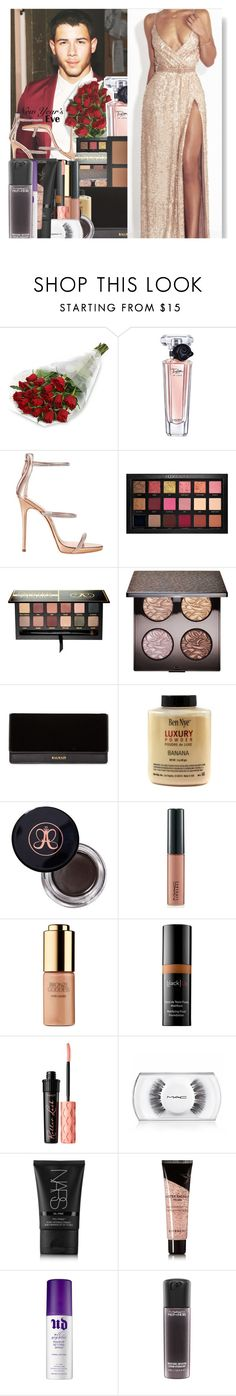 """""And I went into the New Year loving myself a little less, but a little more where it actually mattered."" – Dominic Riccitello"" by w-on-der-lan-d ❤ liked on Polyvore featuring Lancôme, Giuseppe Zanotti, Huda Beauty, Anastasia Beverly Hills, Laura Mercier, Kat Von D, Balmain, MAC Cosmetics, Estée Lauder and Benefit"