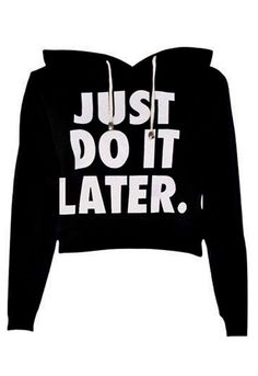 Do It Crop Sweatshirt in Black | Missrebel