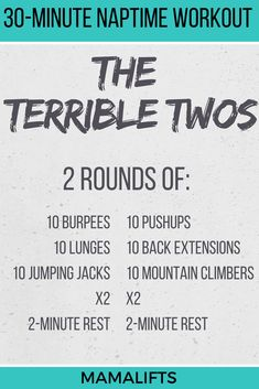 This nap time workout is an ode to From their epic meltdowns to their sweet kisses, this nap time workout perfectly captures the terrible twos. Crossfit Workouts At Home, Outdoor Workouts, Boot Camp Workout, Workout Circuit, Circuit Training, Training Equipment, Kids Workout, Amrap Workout, Workout Body