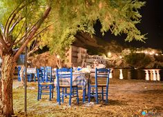 Sweet evening in a taverna  in Therma village in Ikaria island
