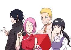 Sasuke, Sakura, Naruto and Hinata