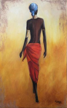 30 New Dancing Women Painting - African Love, African American Art, African Beauty, Woman Painting, Figure Painting, Pictures To Paint, Art Pictures, Renaissance Artists, Exotic Art