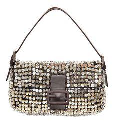 Fendi Baguette Shiny Sequins Shoulder Bag