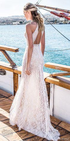 lian rokman 2017 bridal sleeveless halter neck full embellishment elegant sexy sheath wedding dress keyhole back short train (sapphire) bv -- Lian Rokman 2017 Wedding Dresses