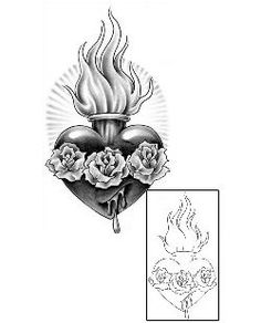 Sacred Heart Tattoos SAF-00101 Created by Sage O'Connell