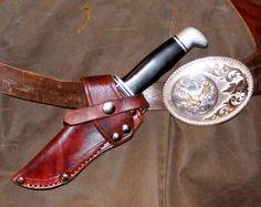 Custom Built Cross Draw Leather Knife Sheaths by RoseWolfArtisans
