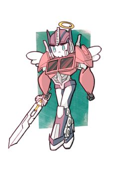 Cutie pie Optimus with his Star Saber handy! He's an angel *^* Original Transformers, Transformers Memes, Transformers Decepticons, Transformers Optimus Prime, Good Night Everybody, The Warlord, Fan Art, Cartoon, Cute