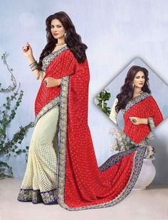 Sarees Online: Shop the latest Indian Sarees at the best price online shopping. From classic to contemporary, daily wear to party wear saree, Cbazaar has saree for every occasion. Latest Indian Saree, Indian Sarees Online, Latest Sarees, Buy Sarees Online, Red Saree, Lehenga Saree, Georgette Sarees, Party Wear Sarees Online, Sari Dress