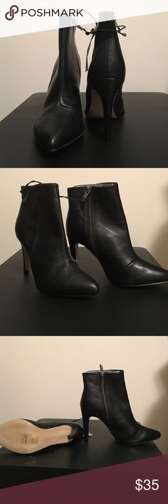 Black H&M booties Black booties with inside zips, approximately 3inches high. H&M Shoes Ankle Boots & Booties