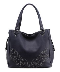 Loving this MKF Collection Navy Blue Embellished Tote on #zulily! #zulilyfinds