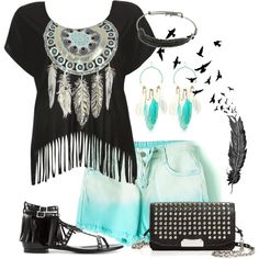 Feather&Fringe by annetkor on Polyvore featuring мода, Wet Seal, Yves Saint Laurent, Burberry, River Island and Alex and Ani