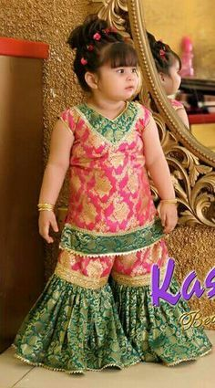 Image result for baby girl gharara