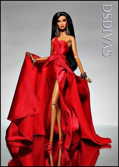 Ready for the Red Carpet: Love this red dress FR Doll Barbie Wedding Dress, Barbie Gowns, Barbie Dress, Barbie Clothes, Fashion Royalty Dolls, Fashion Dolls, Chic Chic, Barbie Mode, Barbie Makeup