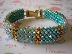 RAW Glitzerarmreif by Beadwork by Sian, via Flickr