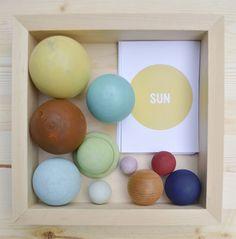 DIY Handmade Solar System In A Box // via playful learning