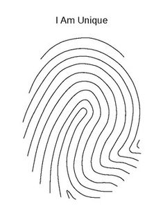 Fingerprint – I Am Unique Writing Activity – Marie-Louise Spatz – art therapy activities Counseling Activities, Art Therapy Activities, School Counseling, Writing Activities, I Am Unique, First Day Of School Activities, Beginning Of School, Back To School Art, Art School
