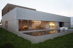 Modern concrete residence.