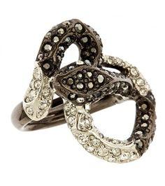 Swarovski Crystal Embellished Snake Ring
