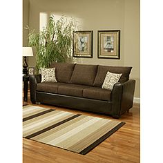 @Overstock - Porta sofa features 100-percent chenille construction which provides luxury seating. Eco-friendly soy-based polyfoam with fiber-down blend fills the cushions for back support.http://www.overstock.com/Home-Garden/Porta-Chenille-Chocolate-Brown-Sofa/6737146/product.html?CID=214117 $789.09