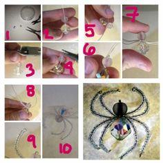 DIY Beaded Spider #Halloween #craft #DIY