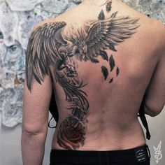 phoenix tattoo designs tattoos fire bird mythology black man back placement - -. - phoenix tattoo designs tattoos fire bird mythology black man back placement – – - Phoenix Tattoo For Men, Phoenix Bird Tattoos, Phoenix Tattoo Design, Chest Tattoo Phoenix, Neue Tattoos, Body Art Tattoos, Girl Tattoos, Sleeve Tattoos, Crow Tattoos