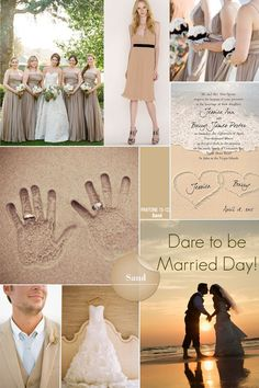 summer wedding colors - sand spring summer 2014 wedding color comb