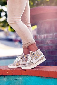 Pretty in print: Limited Edition- Liberty of London Collection. #nike #limitededition