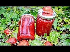 Gem de capsuni (reteta simpla, veche, fara aditivi) | Gina Bradea - YouTube Gin, Diy And Crafts, Deserts, Beverages, Canning, Vegetables, Sweets, Gummi Candy, Candy