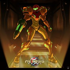 A illustration from the past I did when the firs Metroid Prime came out. I modeled an entire section of Norfair in to use as a background, but you barely see any of it. Was fun to make though. Metroid Samus, Metroid Prime, Samus Aran, Sci Fi Games, Zero Suit Samus, Star Fox, Bounty Hunter, Street Fighter, Fire Emblem