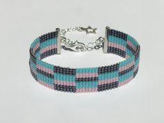 Items similar to Bead loom bracelet with Miyuki Delica beads - Anamu on Etsy Bead Loom Designs, Bead Loom Patterns, Bead Loom Bracelets, Jewelry Rings, Unique Jewelry, Coraline, Loom Beading, Ring Earrings, Etsy