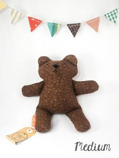 Classic Brown Stuffed Cotton Bear // Unisex by ChariotsAfire