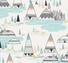 Explore the wilderness with this fun collection, Indian Summer. Little ones can explore and let their imaginations soar in this fabric of