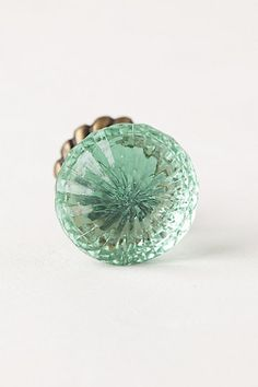 Anthropologie simmered glass knob (maybe silver or mint?) $10