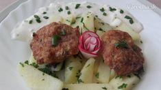 Švédske pagáčiky s domácou tatárkou (fotorecept) - recept | Varecha.sk Meat, Chicken, Food, Meals, Yemek, Buffalo Chicken, Eten, Rooster