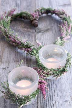Har en drøm…: [ lyng, drivved og litt blomstertråd ) Decoration, Diy And Crafts, Candle Holders, Alcohol, Reception, Bride, Flowers, Home Decor, Weddings