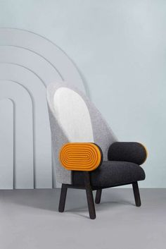 For Sale on - By French Lebanese designer Charles Kalpakian, 'Moon' is a contemporary armchair with a vintage twist in Kvadrat upholstery. Its very high back and its Classic Furniture, Unique Furniture, Shabby Chic Furniture, Furniture Design, Furniture Ideas, Furniture Movers, Furniture Outlet, Luxury Furniture, Furniture Nyc
