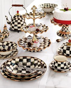 """Courtly Check"" Dinnerware"