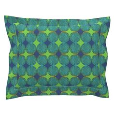 Sebright Pillow Sham with Flanged Detail featuring Popbluer by joancaronil | Roostery Home Decor