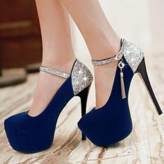 Solid color waterproof wedding sexy heels