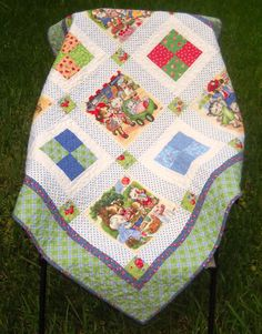 Retro Vintage Look Pam Kitty Picnic Patchwork by JuneBugQuilts