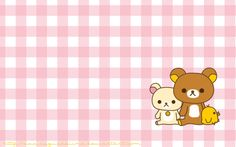 English: A couple of months ago =Cachomon gave me a rilakkuma keychain and it's so cute I've decided to make a wallpaper of it. Cute Blue Wallpaper, Plaid Wallpaper, Bear Wallpaper, Hello Kitty Wallpaper, Kawaii Wallpaper, Laptop Wallpaper, Cool Cute Backgrounds, Cute Wallpaper Backgrounds, Cute Wallpapers