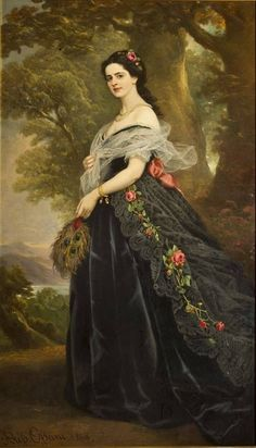 In the Swan's Shadow: Alessandro Ossani Century) , Countess Julia Fabry Kotti, Full-Length Portrait 1869 Victorian Paintings, Victorian Art, Old Paintings, Beautiful Paintings, Historical Women, Art Moderne, Classical Art, Woman Painting, Portrait Art