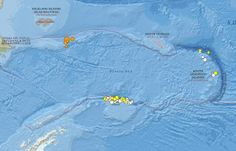 Earthquakes in the Scotia Sea in the 30 days up to the 25 November. Image credit:: USGS