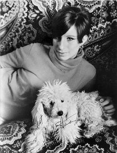 Barbra Streisand with her dog... i think.. i really don't know/IRDK/I.R.D.K.