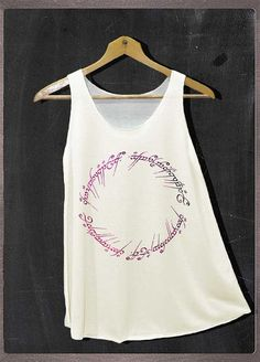 The Lord of The Ring Mordor Signature On Ring Shirt Tank Top Women Size Small and Large