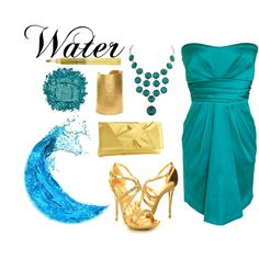 """""""Elements Water"""" by wonderland449 on Polyvore"""