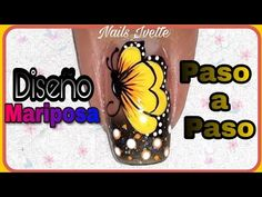 Diseño de uñas Mariposa - YouTube Nail Designs, Butterfly, Glitter, Nail Art, Nails, Youtube, Erika, Work Nails, Christmas Nail Designs