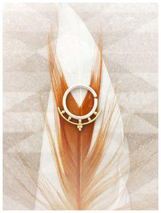 Kamani. Beleaf jewelry 14K Gold Septum Ring. by BeleafJewelry